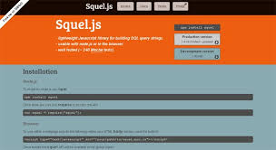 squel.js-Database Management Tools